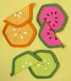 Knitted Fruity Trivets + Pot Holders - the purl bee