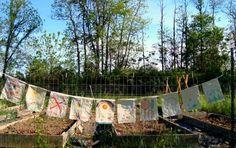DIY garden flags