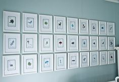 Love the alphabet picture wall