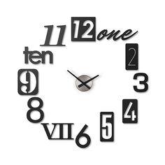 Numbers on the Wall Clock | dotandbo.com