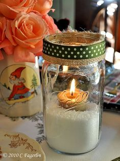 mason jar - epsom salt snow