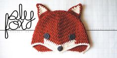 """What Does the Fox Say?"" Crochet this sweet Sly Fox hat from Good Knits, a free pattern."