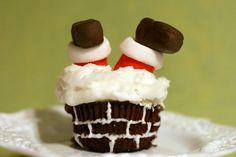 Cute Christmas Cupcakes holiday-ideas