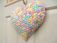 Valentine Decoration - Candy Hearts Puffy Heart Valentines Day Decor