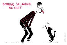 Les expressions imagées de la langue française.  Donner sa langue au chat : renoncer à deviner.  Par exemple: Je donne ma langue au chat.