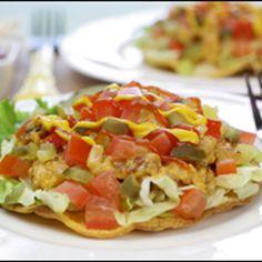 Cheeseburger Tostadas (Hungry Girl) - 4 PointsPlus