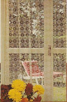 Beautiful Crochet Lace Curtains Motif Pattern | eBay