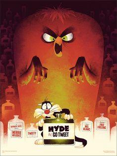 Hyde and Go Tweet hyde, cat, artworks, rock posters, phantom citi, looney tunes, citi creativ, birds, poster prints