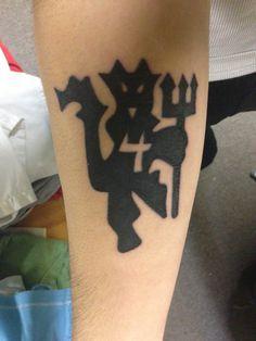 #manchesterunited #manu #reddevil #devil #tattoo #fresh #ink #4 #soccer #football #love.