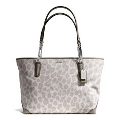 The Madison East/west Tote In Ocelot Jacquard from Coach