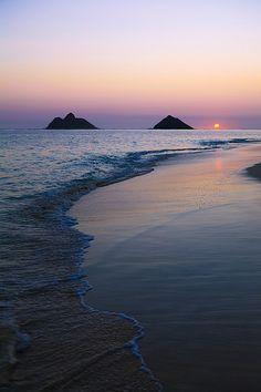 Soft Sunset - Hawaii, Oahu, Kailua, Lanikai.