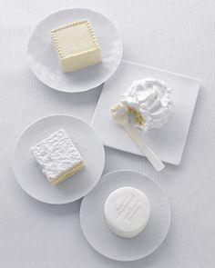 Bridal Shower Ideas from Martha Stewart - Miniature White Cakes