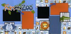 zoo layout, the zoo, zoo scrapbook