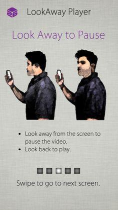 LookAway IOS app for Youtube Control with voice gestures