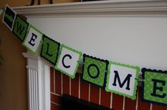Alligator baby shower welcome sign