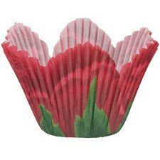 Red Rose Themed Petal Shaped Cupcake Liners by Wilton