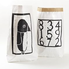 Paper bag Numbers - selected