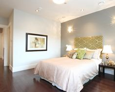 Green Natural Accent Wall For Bedroom