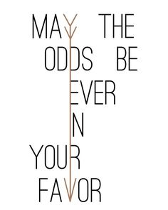 May the odds be ever in your favor - Free Hunger Games T-shirt Design - All Things Thrifty Home Accessories and Decor