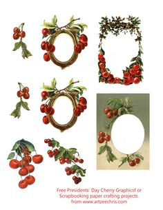 Free Cherry Frames and Graphics