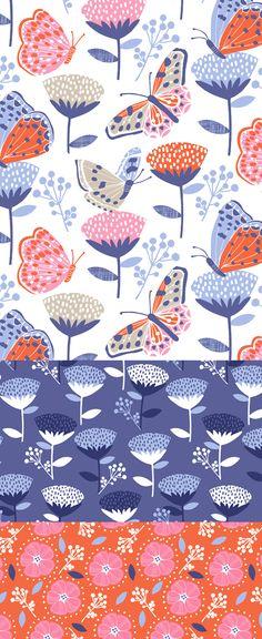 wendy kendall designs – freelance surface pattern designer » butterfly garden
