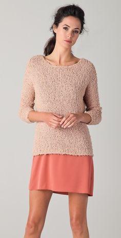 Tone-on-tone, nude sweater