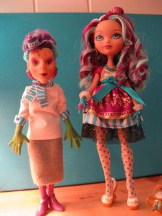 Do The Hatter Stance!  Madeline (an Ever After High doll) and Grandma-ma (a custom 80's Sour Grapes Doll) Hatter  | Flickr - Photo Sharing!