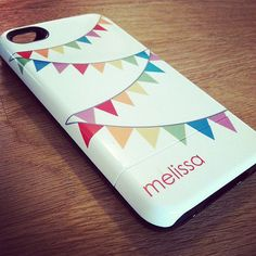 Personalized iPhone Case 4 / 4S or 3G  Bunting by adropofgoldensun, $49.99