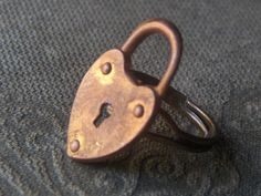And Thrown Away the Key Heart lock ring from ChYMieRa