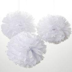 Pom Poms All White