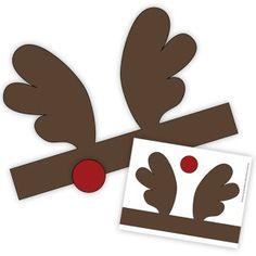 Printable Reindeer Headbands headband cake, antlers, christmas printables, reindeer headband, reindeer antler, printabl reindeer, headbands, christmas gifts, antler headband