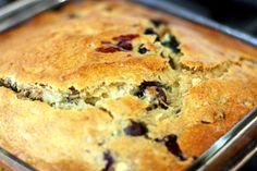 Vegan Blueberry Banana Snack Cake | WeeklyBite