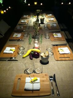 Provence dinner table