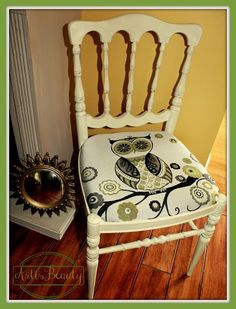 ART IS BEAUTY: Cute little Owl Chair Makeover http://arttisbeauty.blogspot.com/2013/07/cute-little-owl-chair-makeover.html