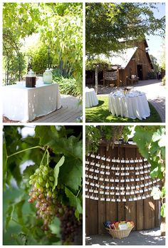 escort cards - hanging on twine w/ clothespins