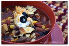 Crockpot Taco Soup ~ I'll be making this soon!