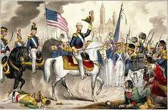 Civil War General Winfield Scott, shown here in the Mexican American War, 1848
