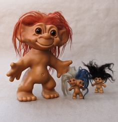"""Original Dam Things 12"""" Troll Doll / Dam Things / Iggynormous    note:  my sister had the two-headed one!"""
