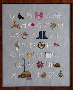 Winterwoods ABCs Cross Stitch Sampler Pattern (I have no idea how to cross stitch... this might be a little ambitious...)
