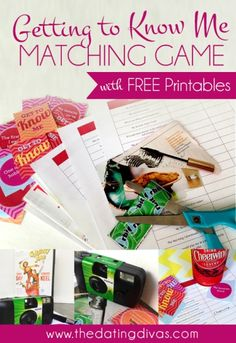 Getting to Know You Matching Game- free download