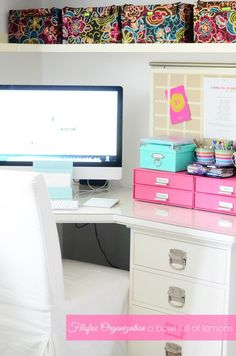 How to organize your FILOFAX supplies in your home office- A Bowl Full of Lemons