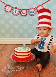 Dr Seuss/Cat in the Hat High Chair Banner by LuLuPaperPrints, $11.00