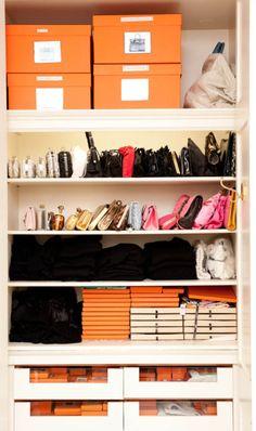 Organized accessories.