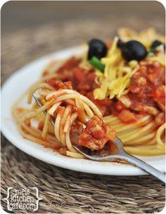 Cowboy Spaghetti! A fun spin on a weeknight staple.