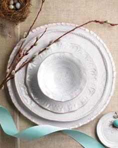 .White dishes.