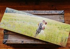 12x36 panoramic wedding photo printed on wood!