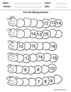Free Customized Kindergarten Worksheets