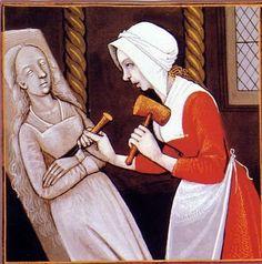 artist unknown,Le Livre des Cleres et Nobles Femmes,French, 15th century, Bibliothèque Nationale, Paris NOTE: this is a woman doing stonecarving.