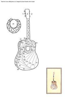 Guitar Iris Folding Pattern