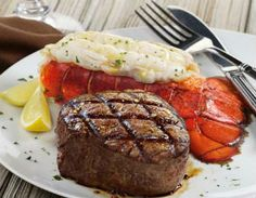 Citrus Buttered Lobster Tails Recipe : Seafood: Kansas City Steaks Lobster Tail Recipe, Food, Plate, Lobster Tails Recipe, Citi Steak, Butter Lobster, Steak And Lobster Recipe, Juici Steak